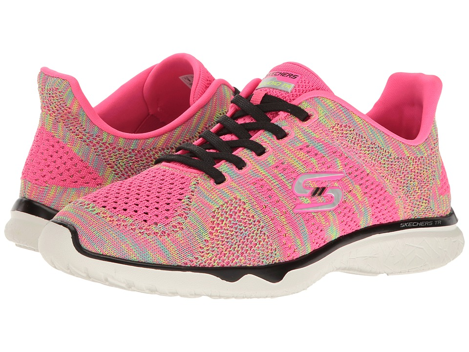 SKECHERS - Studio Burst - Edgy (Natural Pink/Black) Women's Lace up casual Shoes