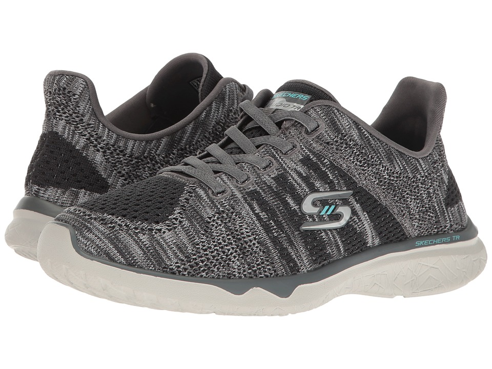 SKECHERS - Studio Burst - Edgy (Gray) Women's Lace up casual Shoes
