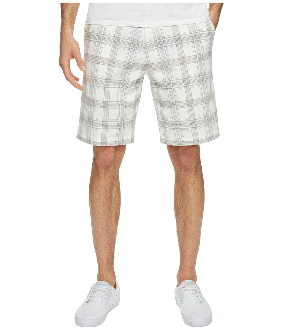 Dockers - Perfect Short Classic Fit Flat Front (White Plaid) Men's Shorts