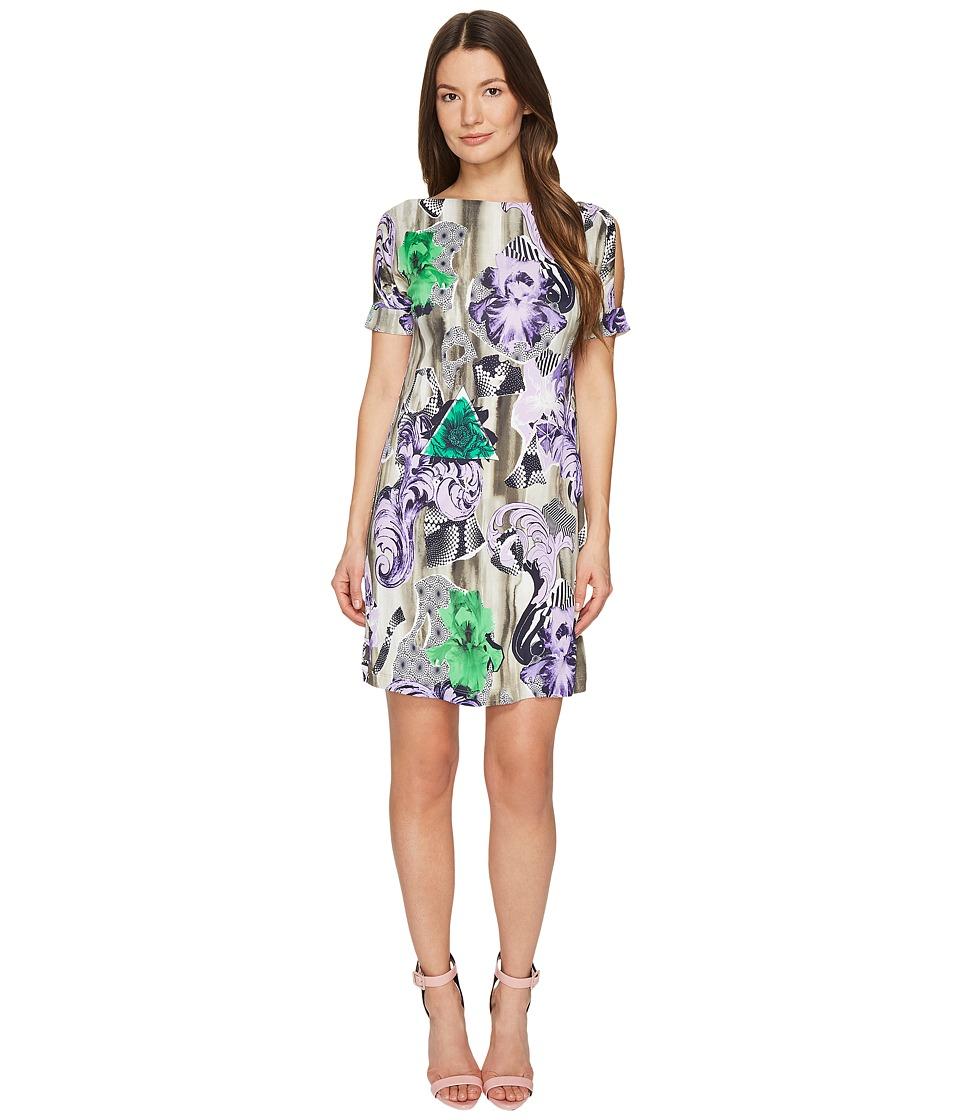 Versace Collection Jersey Short Sleeve Dress (Lavander/Stampa) Women