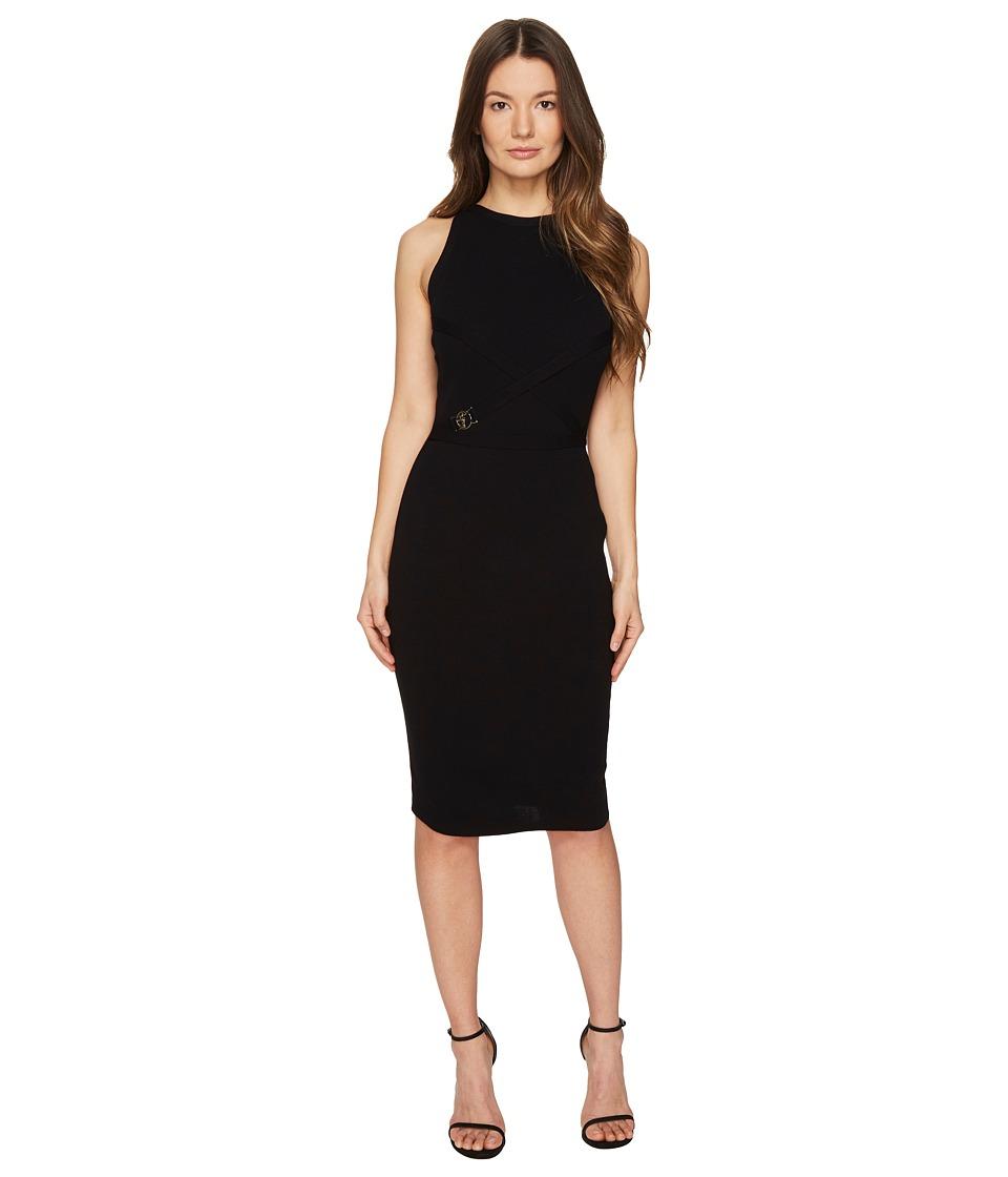 Versace Collection - High Neck Sleeveless Knit Dress (Nero) Women's Dress