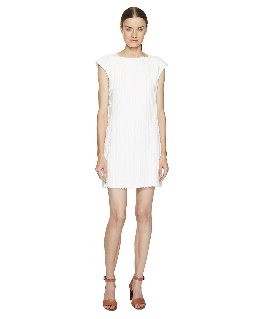 Versace Collection Short Sleeve Woven Dress (Avorio) Women