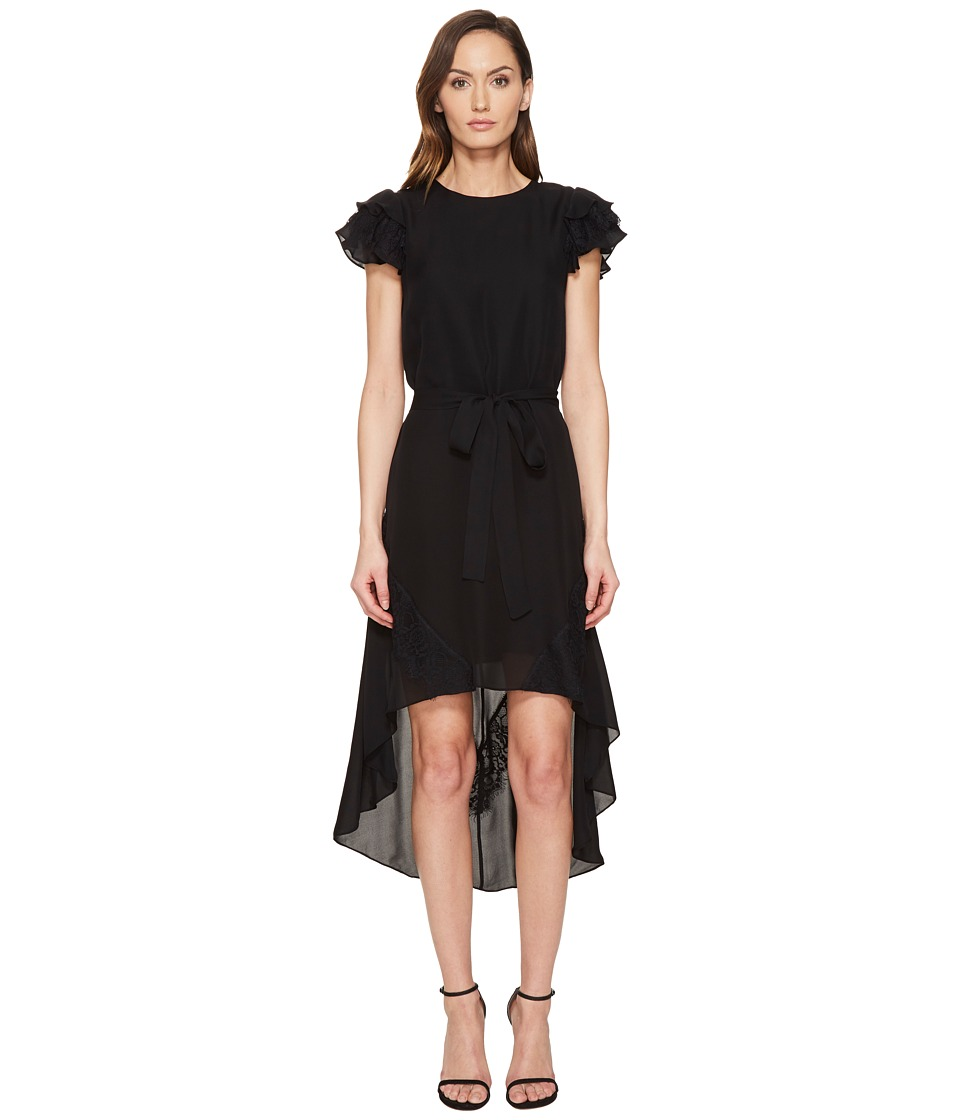 THOMAS WYLDE Tori High-Low Short Sleeve Dress