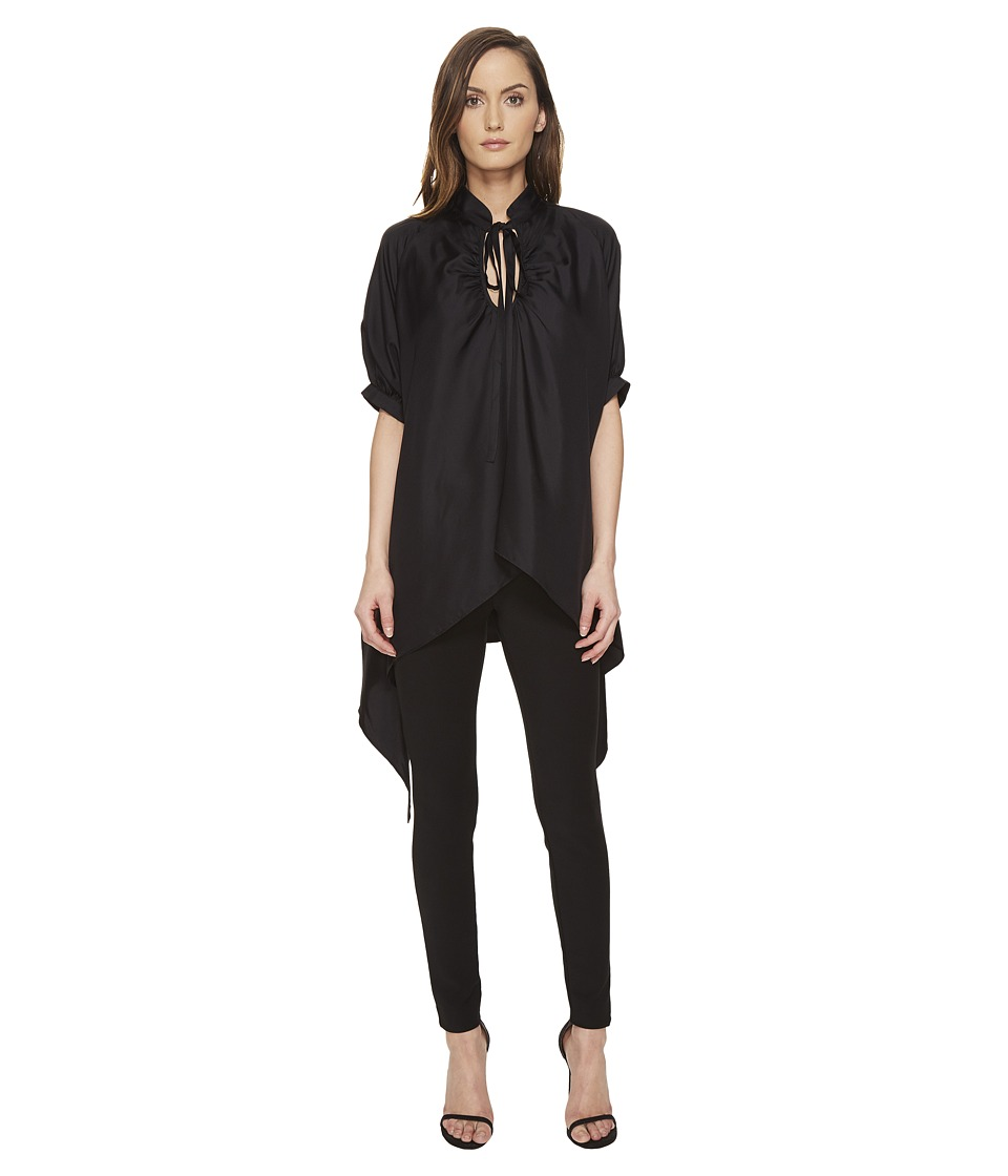 THOMAS WYLDE - Yoko - Tie Neck Flowy Blouse (Black) Women's Blouse