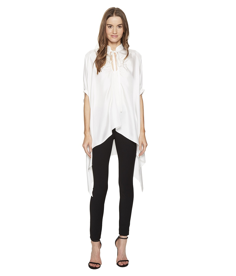 THOMAS WYLDE - Yoko - Tie Neck Flowy Blouse (White) Women's Blouse