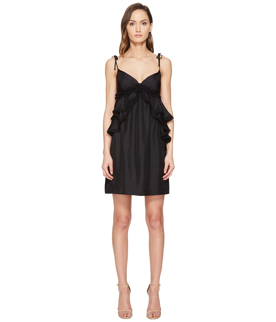 THOMAS WYLDE - Dolly - Ruffled Spaghetti Strap Dress (Black) Women's Dress