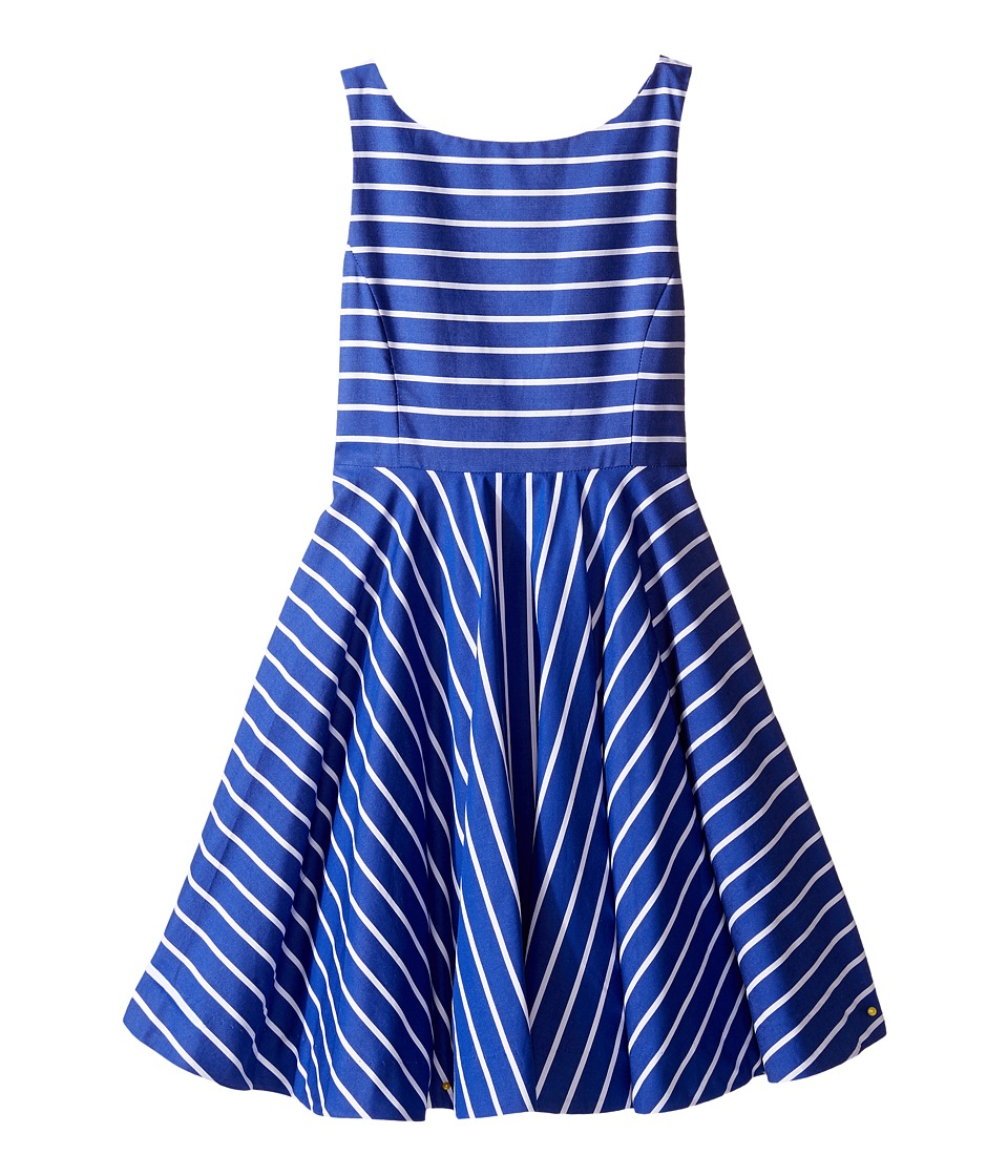 Polo Ralph Lauren Kids - Yarn-Dyed Cotton Sateen Stripe Dress (Little Kids) (Blue/White) Girl's Dress