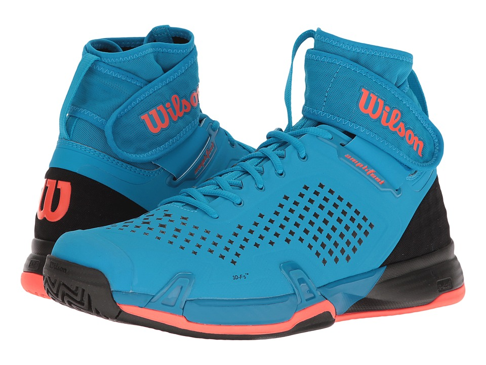 Wilson - Amplifeel (Methyl Blue/Black/Fiery Coral) Men's Tennis Shoes