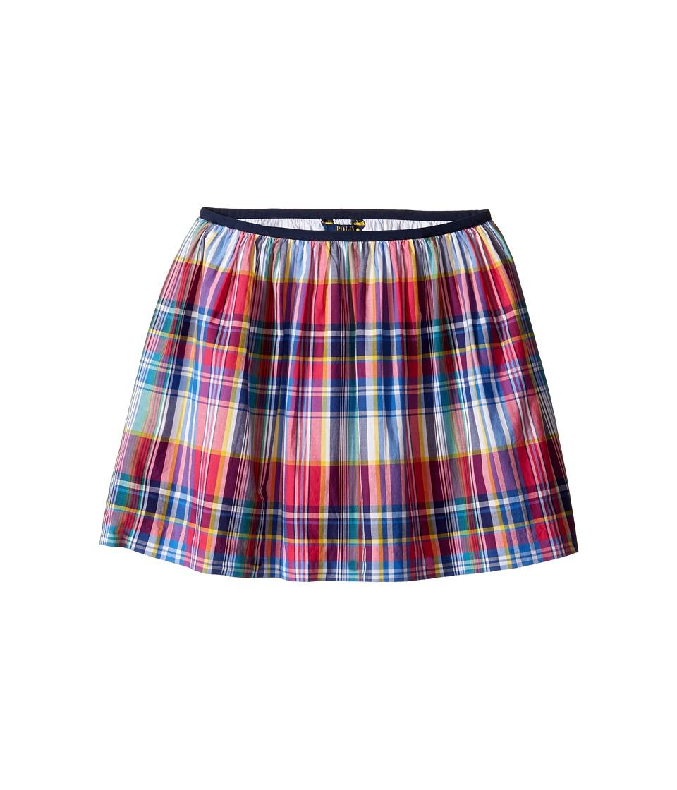 Polo Ralph Lauren Kids - Yarn-Dyed Poplin Plaid Skirt (Little Kids/Big Kids) (Pink Multi) Girl's Skirt