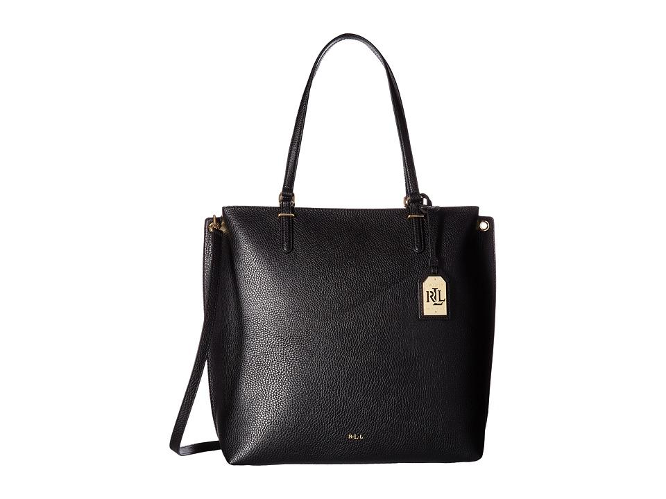 LAUREN Ralph Lauren - Anfield Abby Tote (Black) Tote Handbags