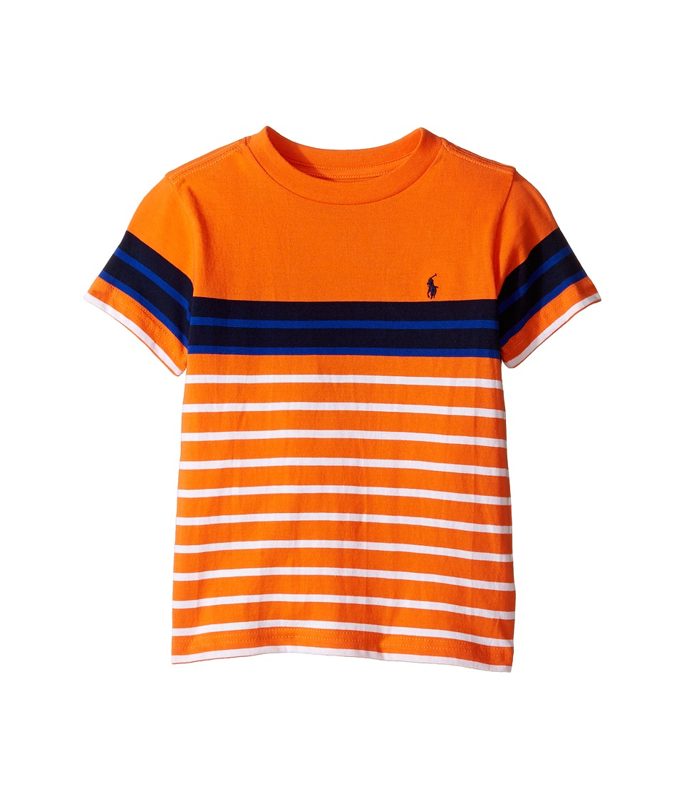 Polo Ralph Lauren Kids - Yarn-Dyed Jersey T-Shirt (Toddler) (Bright Signal Orange Multi) Boy's T Shirt