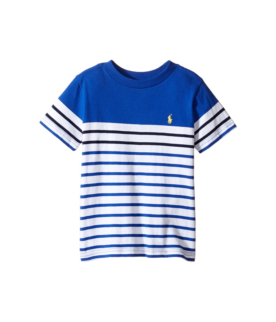 Polo Ralph Lauren Kids - Yarn-Dyed Jersey T-Shirt (Toddler) (Cruise Royal Multi) Boy's T Shirt