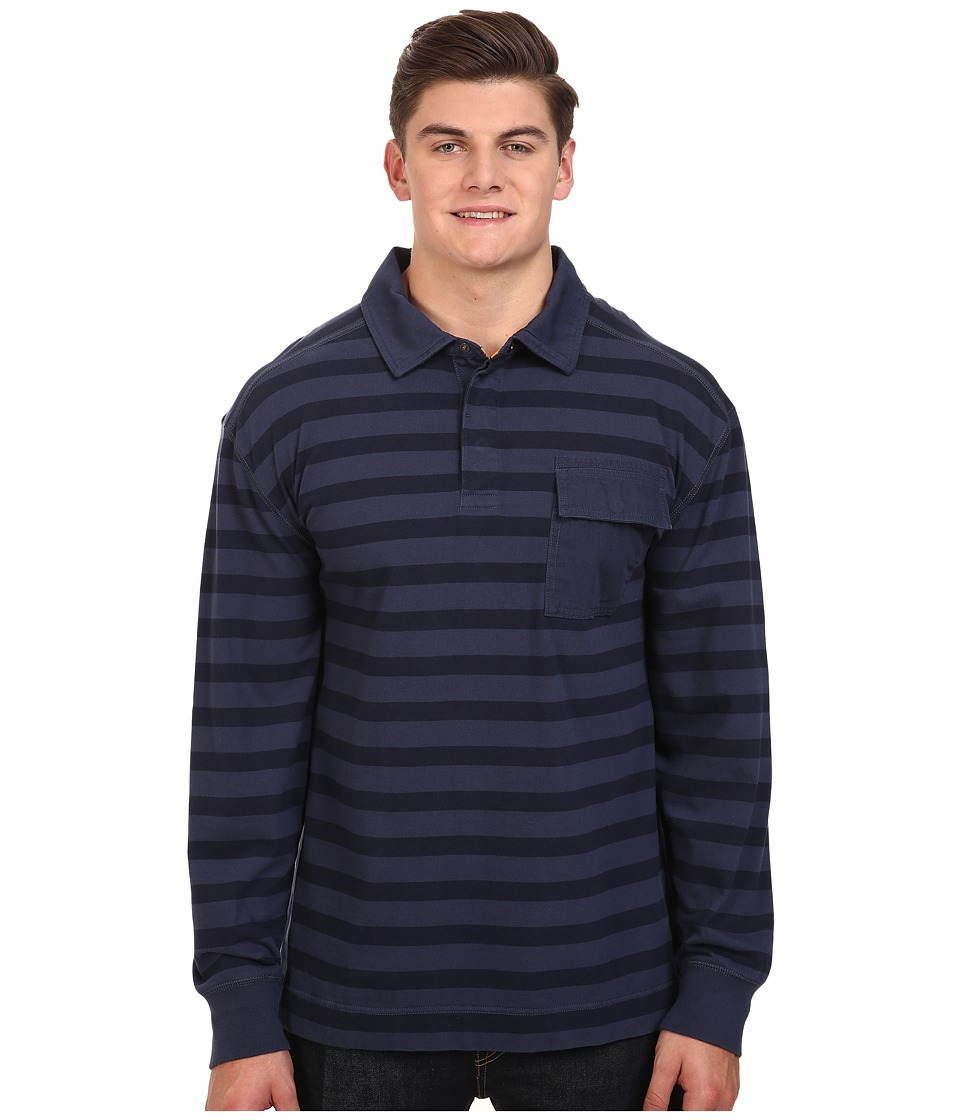 Nautica Big & Tall - Big Tall The Striped Knit Shirt (Mood Indigo) Men's Clothing