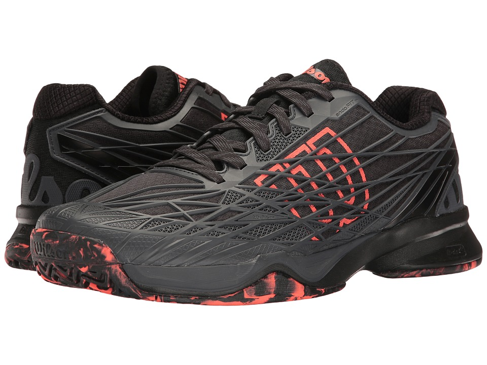Wilson - Kaos (Ebony/Black/Fiery Coal) Men's Tennis Shoes