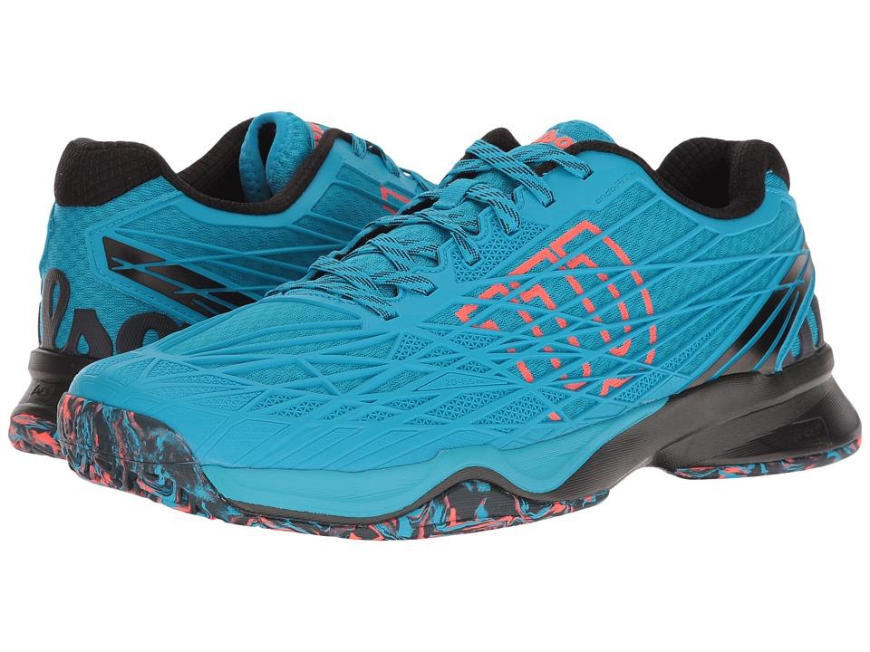 Wilson - Kaos (Hawaiian Ocean/Black/Fiery Coal) Men's Tennis Shoes
