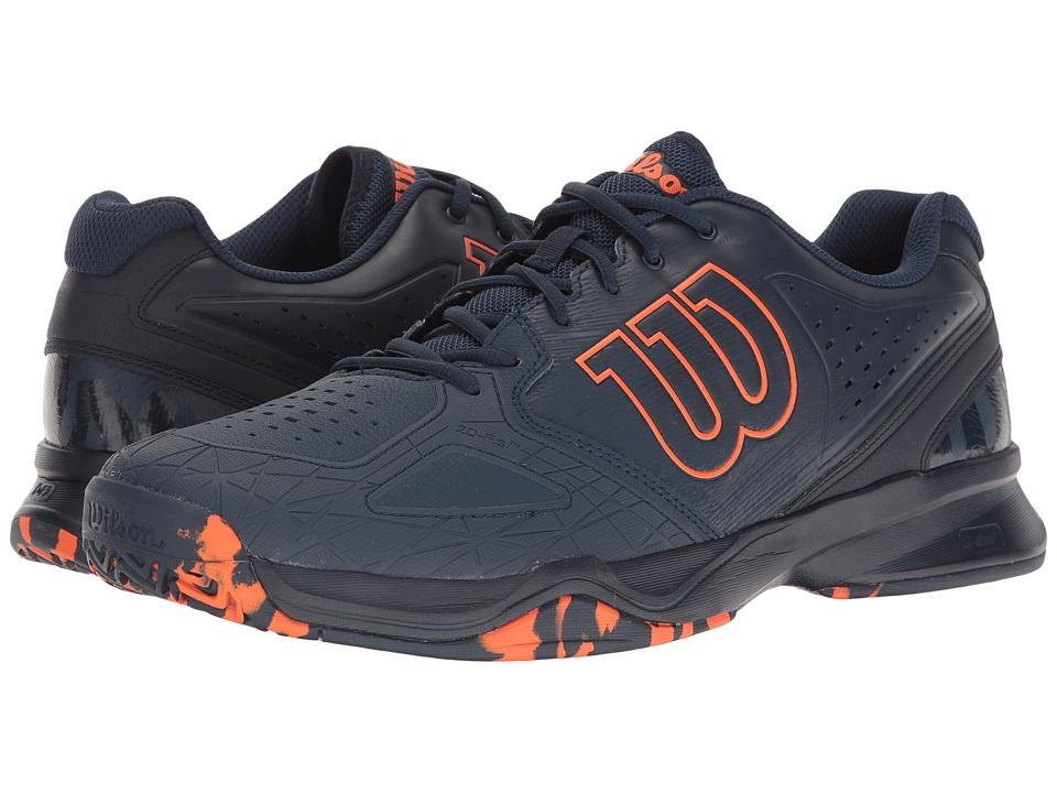 Wilson - Kaos Comp (Dress Blue/Navy Blazer/Flame) Men's Tennis Shoes