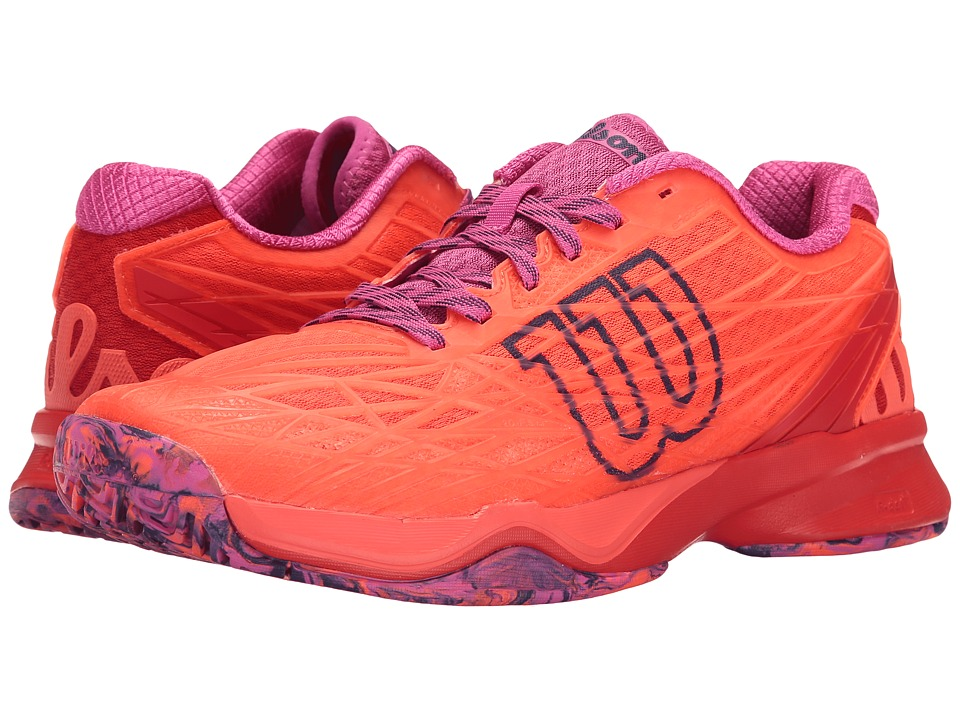 Wilson - Kaos (Fiery Coal/Fiery Red/Rose) Women's Tennis Shoes