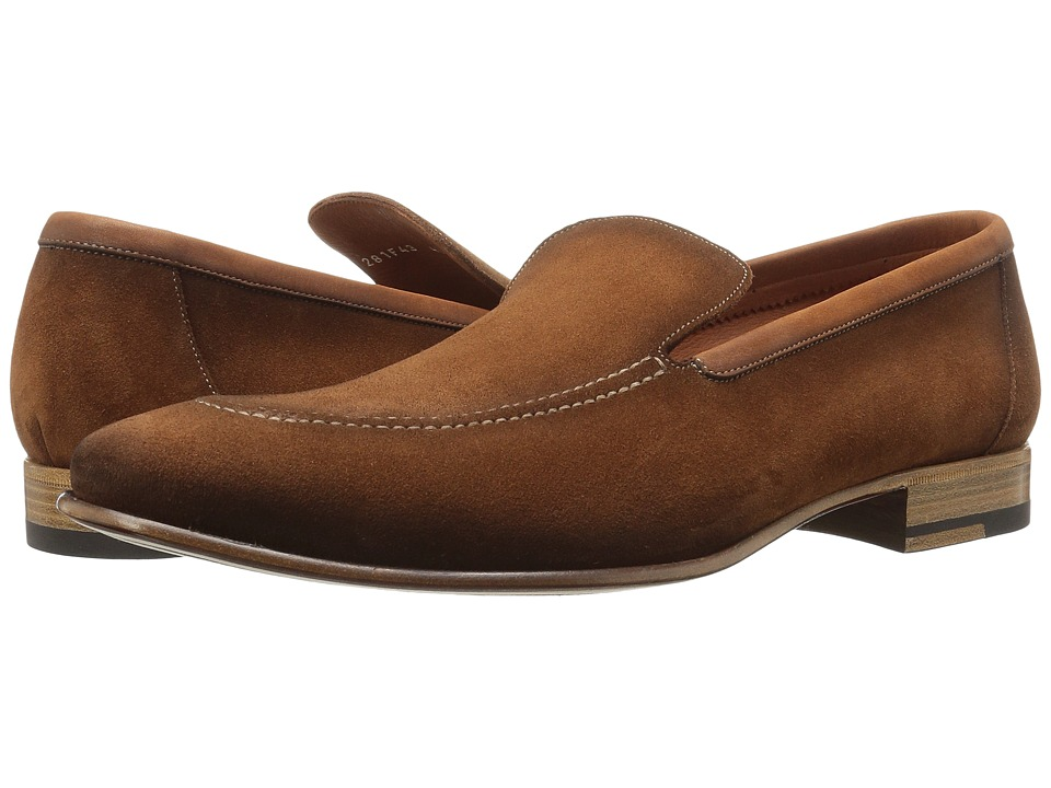 a. testoni - Sport Suede Slip On (Brandy) Men's Shoes