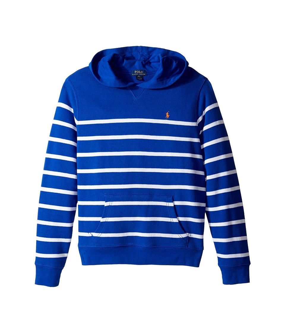 Polo Ralph Lauren Kids - Yarn-Dyed Atlantic Terry Pullover Hoodie (Big Kids) (Cruise Royal Multi) Boy's Sweatshirt