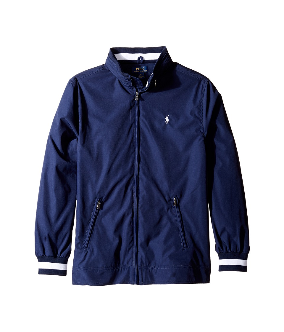 Polo Ralph Lauren Kids - Plain Weave Poly Windbreaker Jacket (Big Kids) (True Navy) Boy's Jacket