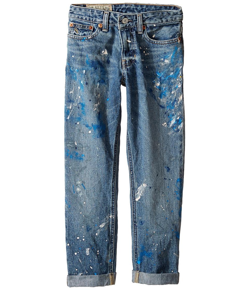 Polo Ralph Lauren Kids - Denim Paint Splat Five-Pocket Jeans in Michael Wash (Big Kids) (Michael Wash) Boy's Jeans