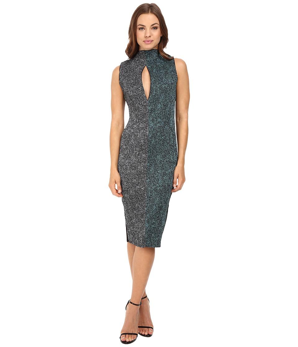 Kitty Joseph Printed Crepe Crystal Pleated Cf Slit Long Dress