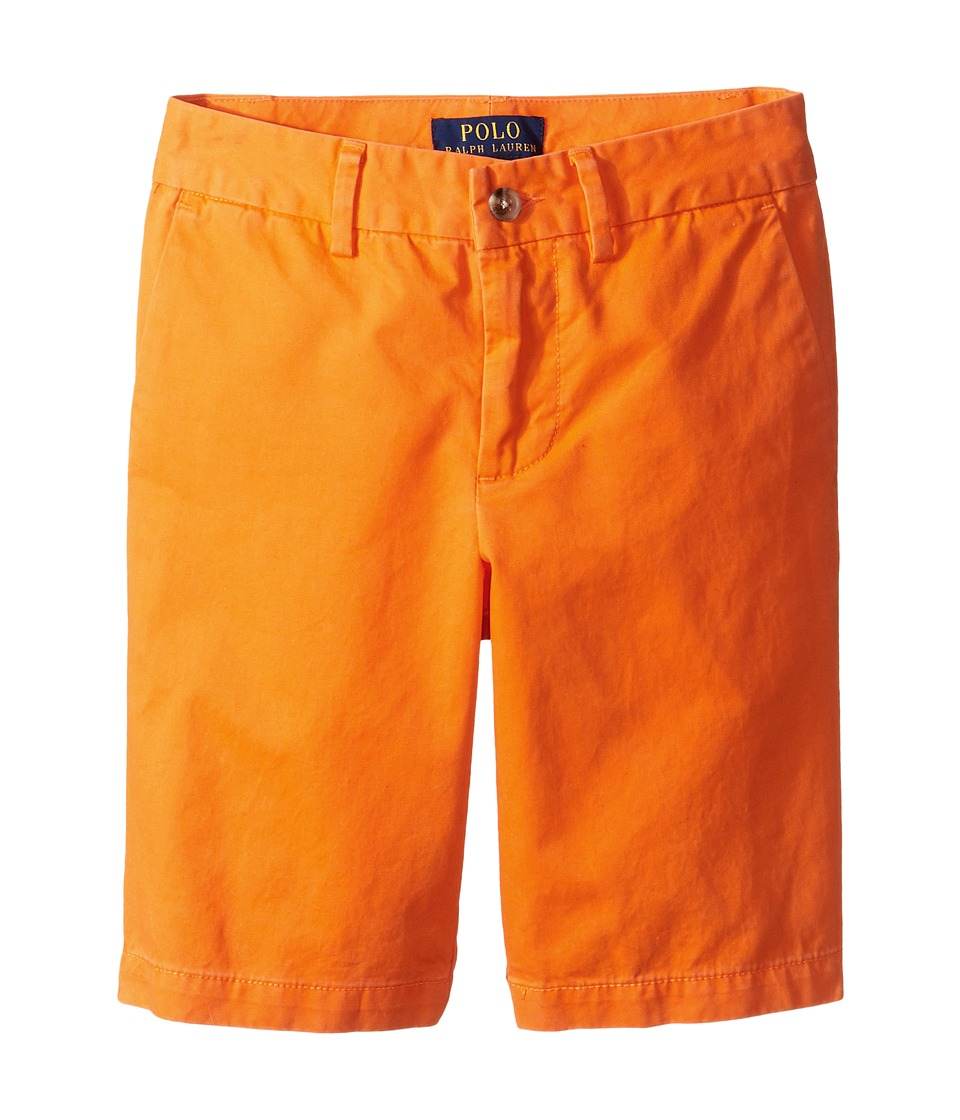 Polo Ralph Lauren Kids - Preppy Broken Twill Shorts (Big Kids) (Bright Signal Orange) Boy's Shorts