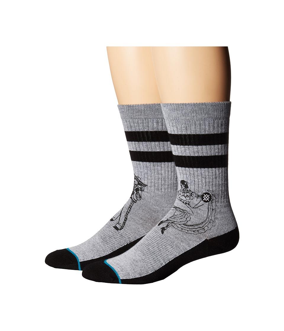 Stance - Flamenco (Grey) Men's Crew Cut Socks Shoes