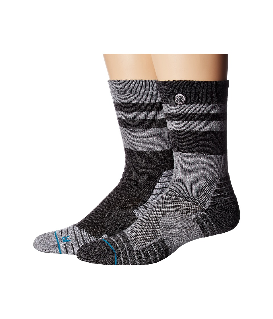 Stance - Arete (Granite) Men's Crew Cut Socks Shoes
