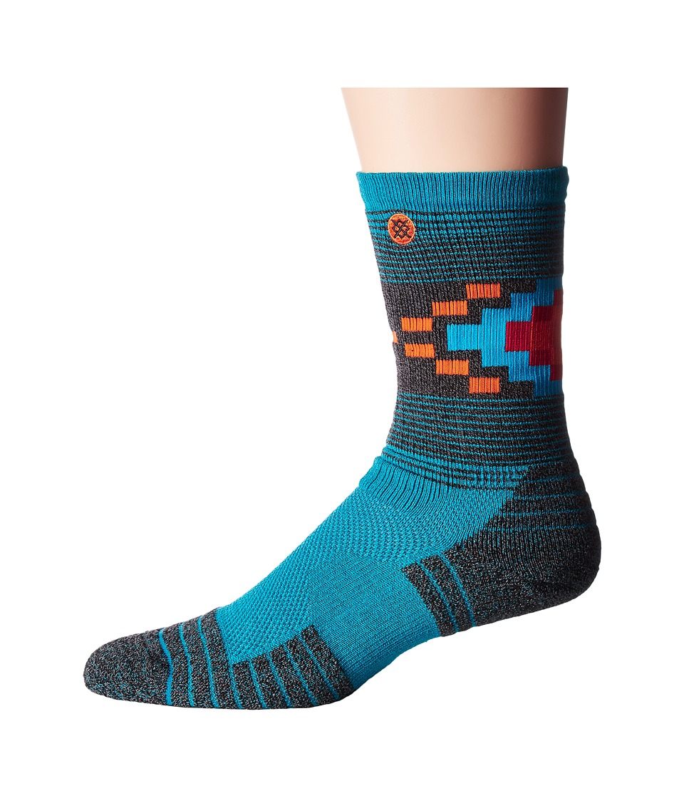 Stance - Wheeler (Turquoise) Men's Crew Cut Socks Shoes