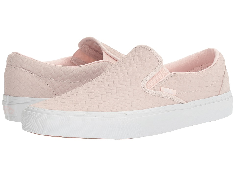 Vans Classic Slip-Ontm ((Embossed Woven Suede) Rose Water) Skate Shoes