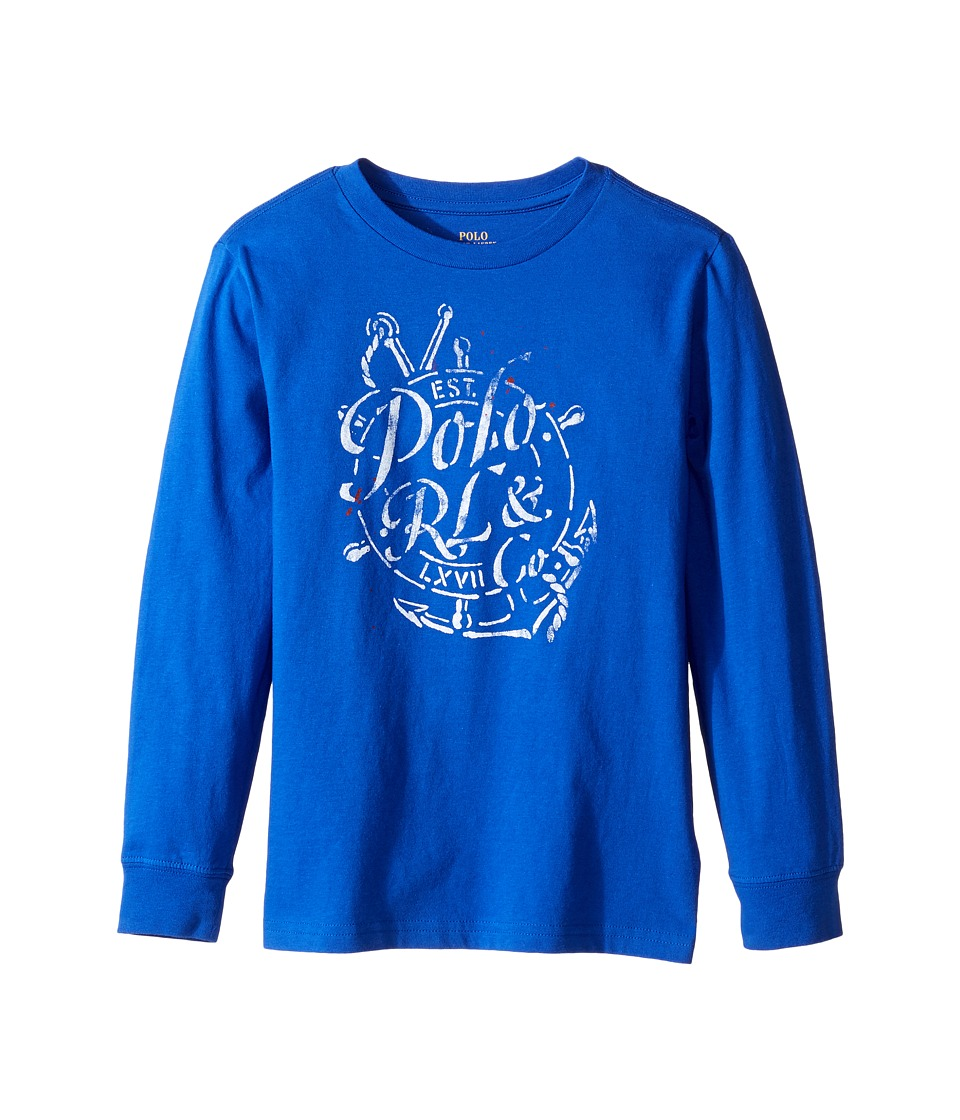 Polo Ralph Lauren Kids - Long Sleeve 30/1 Jersey Tee (Little Kids/Big Kids) (Cruise Royal) Boy's Long Sleeve Pullover