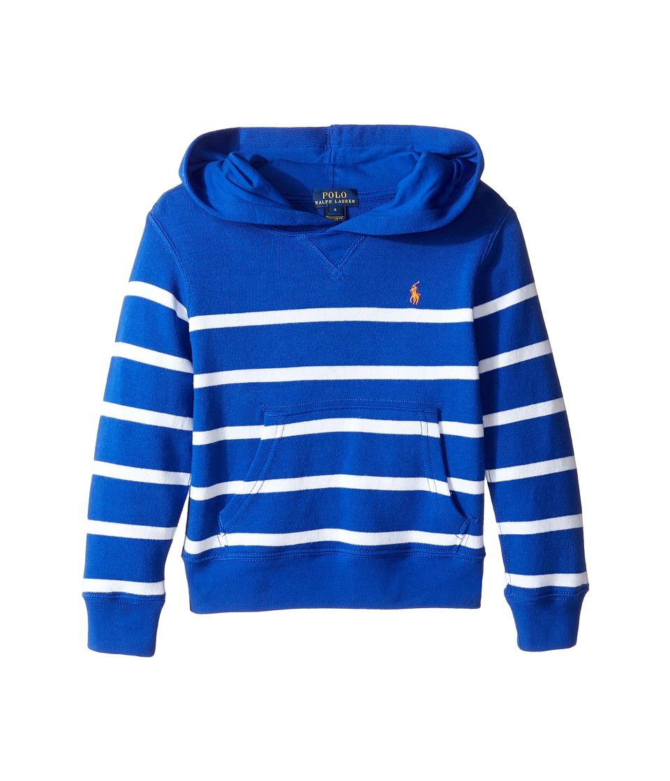 Polo Ralph Lauren Kids - Yarn-Dyed Atlantic Terry Pullover (Little Kids/Big Kids) (Cruise Royal Multi) Boy's Long Sleeve Pullover