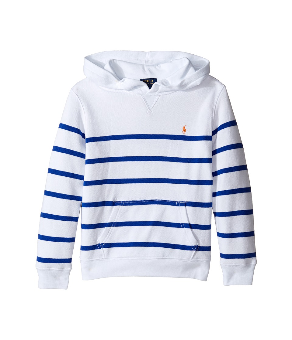 Polo Ralph Lauren Kids - Yarn-Dyed Atlantic Terry Pullover (Little Kids/Big Kids) (White Multi) Boy's Long Sleeve Pullover