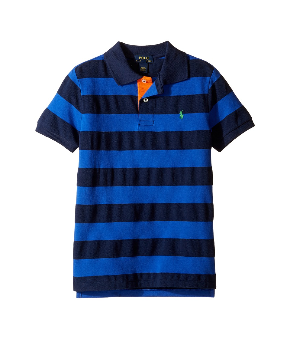 Polo Ralph Lauren Kids - Yarn-Dyed Mesh Stripe Polo Top (Little Kids/Big Kids) (Cruise Royal Multi) Boy's Short Sleeve Pullover