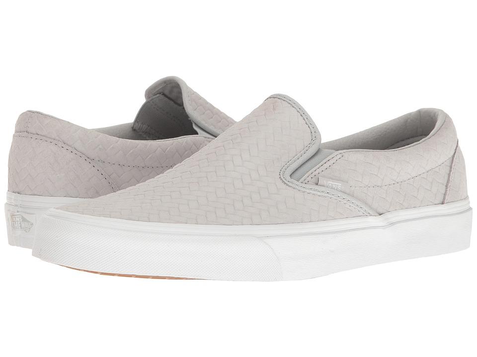 Vans Classic Slip-Ontm ((Embossed Woven Suede) Microchip) Skate Shoes