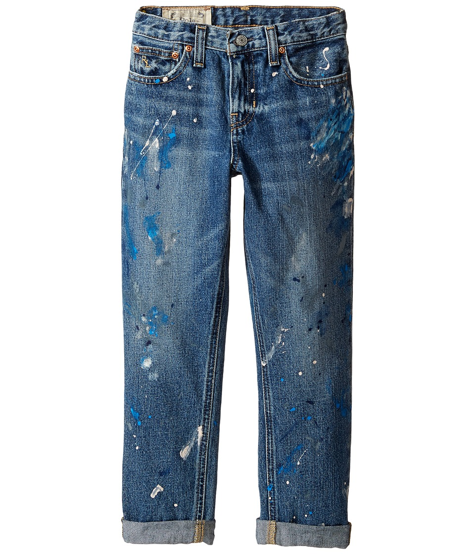 Polo Ralph Lauren Kids - Denim Paint Splat Five-Pocket Jeans in Michael Wash (Little Kids/Big Kids) (Michael Wash) Boy's Jeans