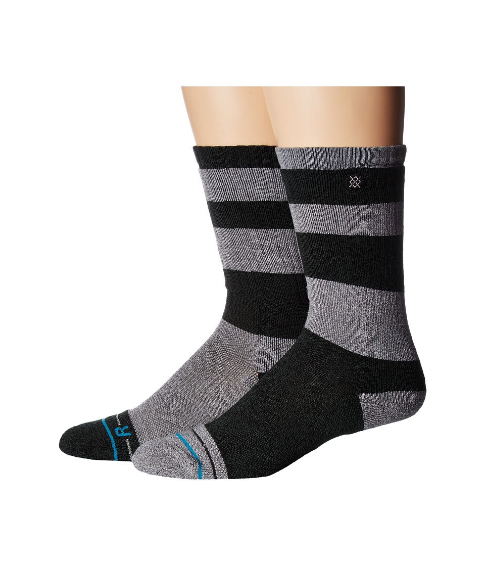 Stance - Basecamp (Ash) Men's Crew Cut Socks Shoes