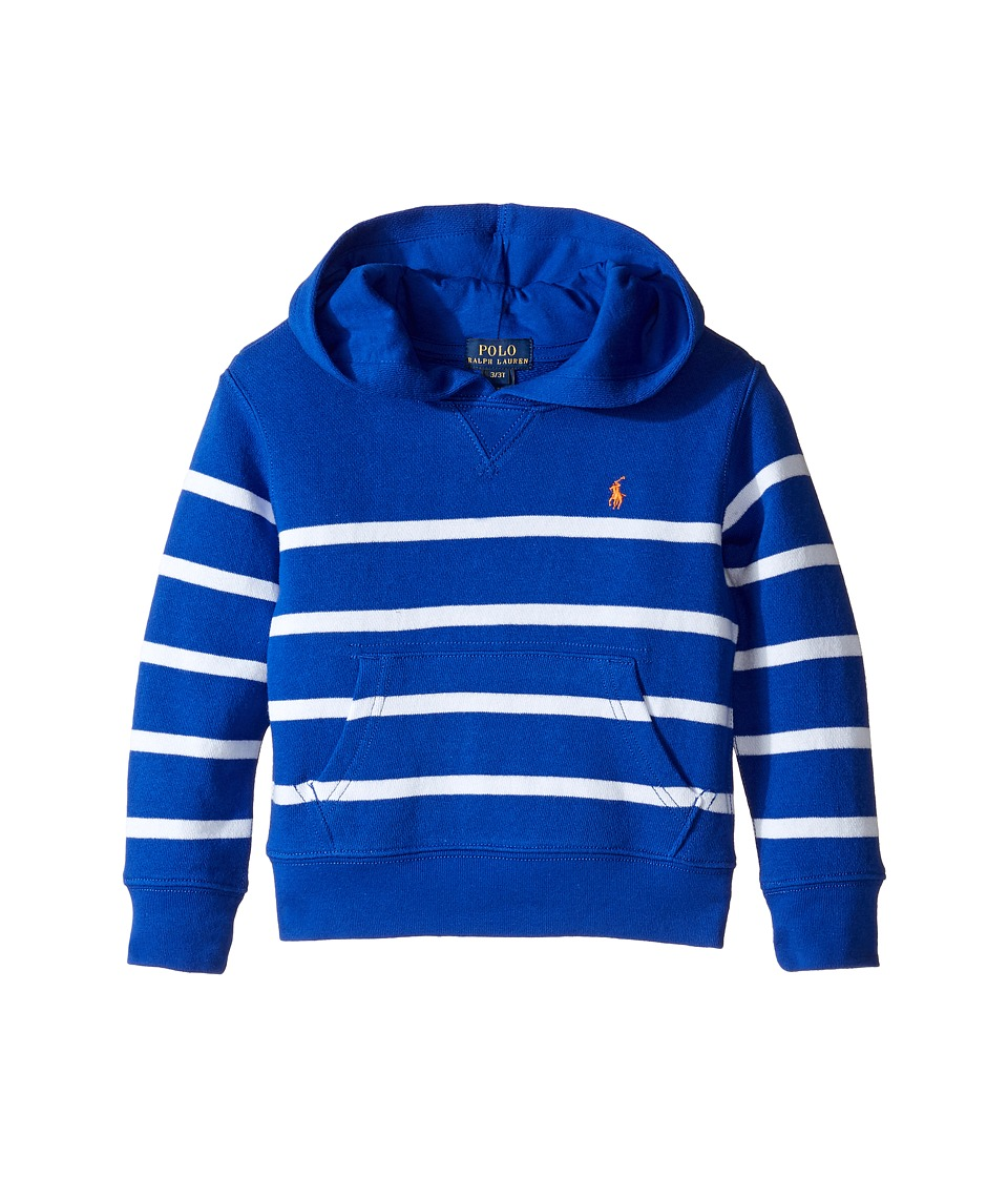 Polo Ralph Lauren Kids - Yarn-Dyed Atlantic Terry Hooded Pullover (Toddler) (Cruise Royal Multi) Boy's Sweatshirt