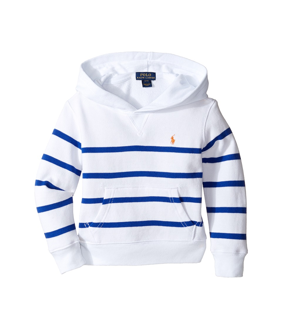 Polo Ralph Lauren Kids - Yarn-Dyed Atlantic Terry Hooded Pullover (Toddler) (White Multi) Boy's Sweatshirt