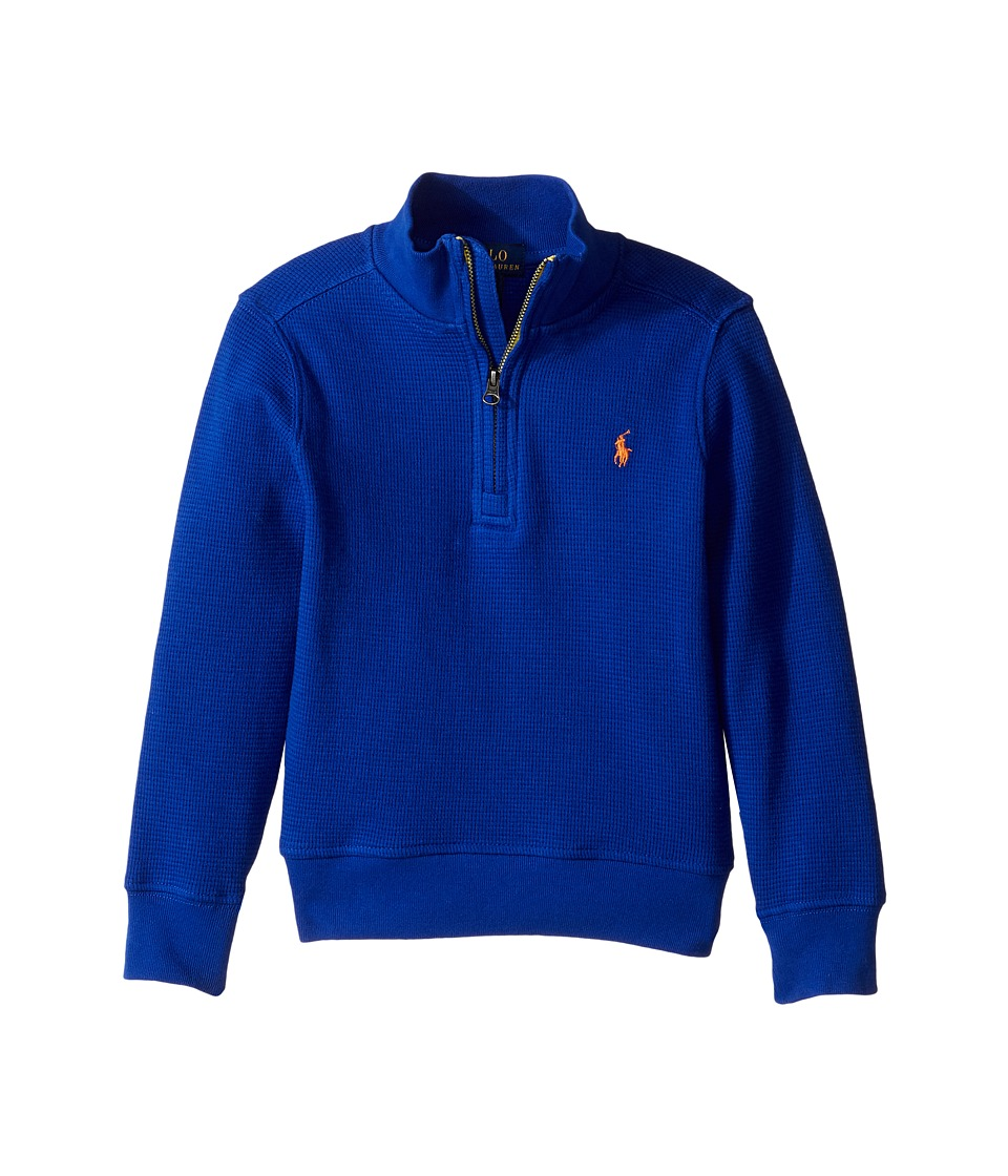 Polo Ralph Lauren Kids - Waffle Half 1/2 Pullover (Toddler) (Cruise Royal) Boy's Sweatshirt