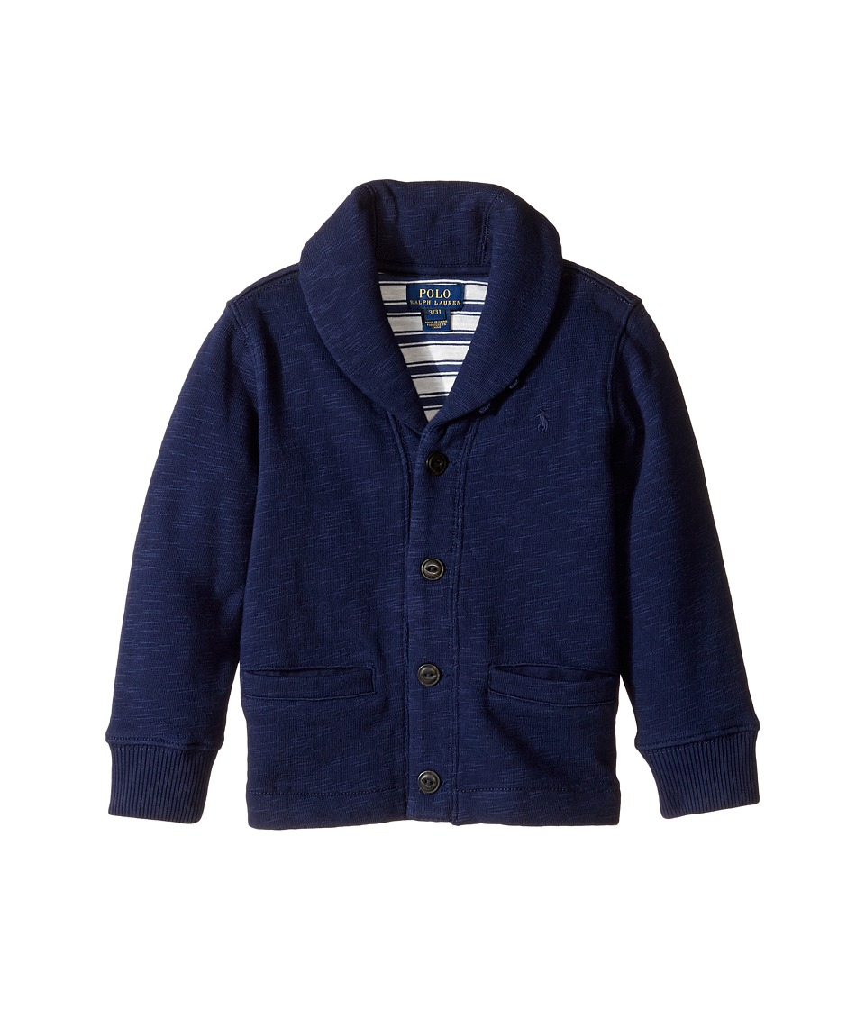 Polo Ralph Lauren Kids - Shawl Collar Knit Fleece (Toddler) (True Navy) Boy's Fleece