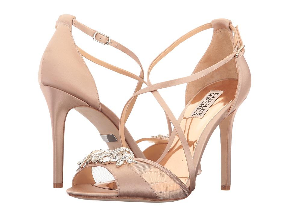 Badgley Mischka Gala (Latte Satin) High Heels