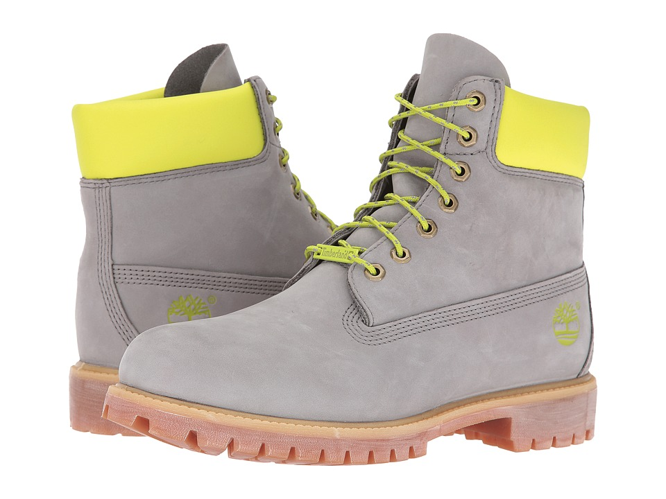 Timberland - 6 Premium (Grey/Green Reflective) Men's Lace-up Boots