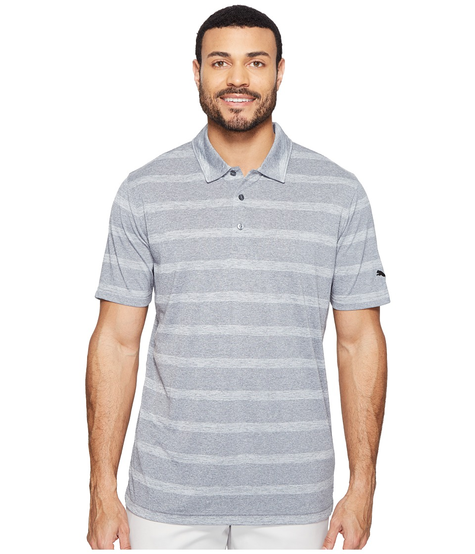 PUMA Golf - Pounce Stripe Polo Cresting (Quiet Shade) Men's Short Sleeve Knit