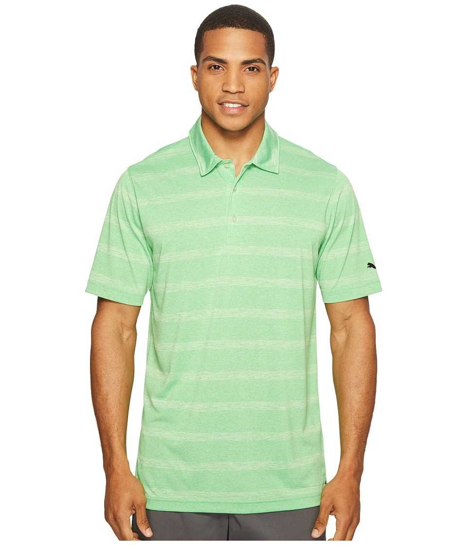 PUMA Golf - Pounce Stripe Polo Cresting (Andean Toucan) Men's Short Sleeve Knit