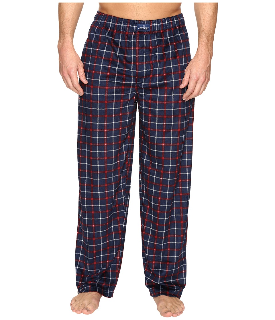 Jockey - Matt Silky Fleece Pants (Navy 2) Men's Pajama