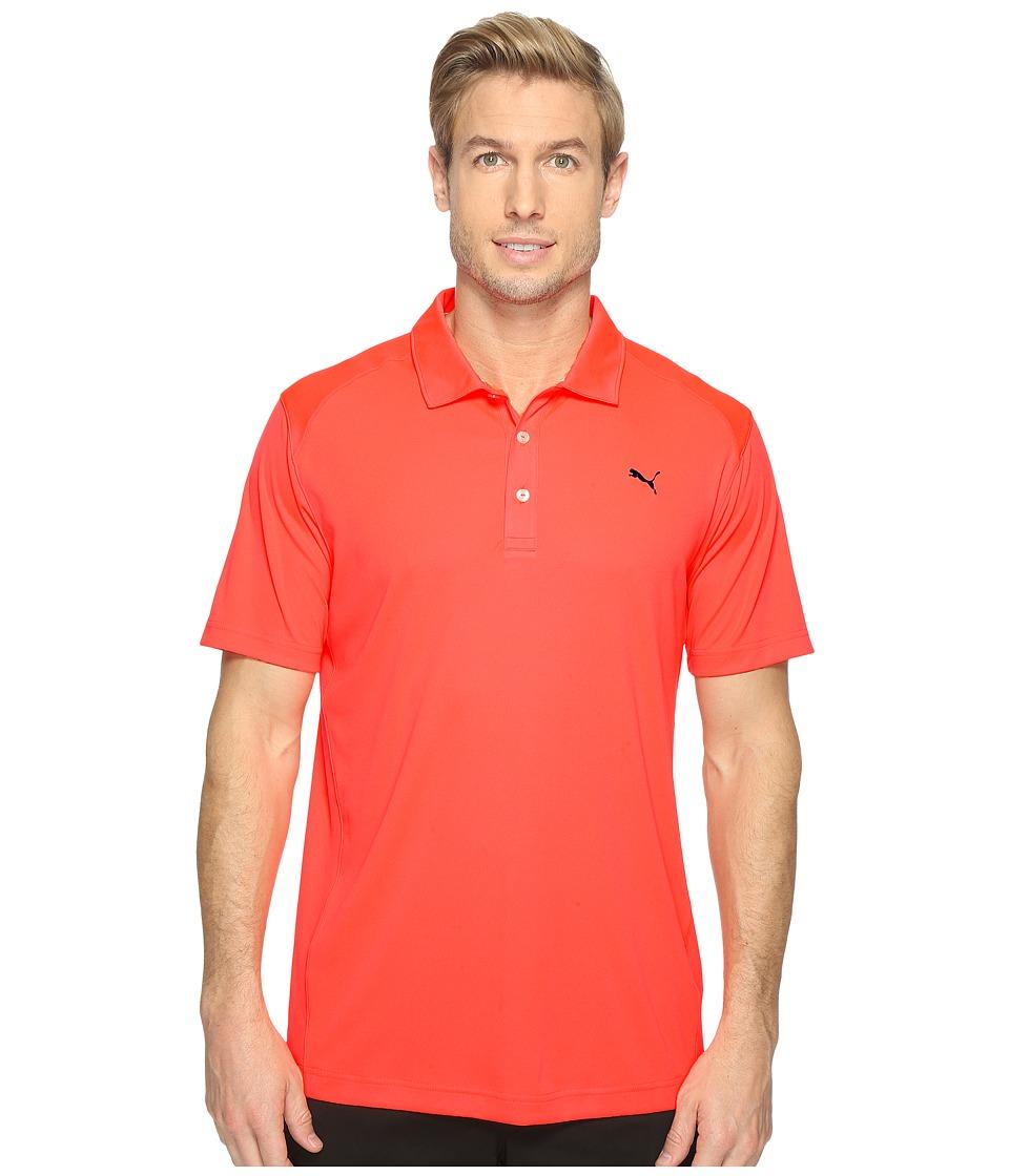 PUMA Golf - ESS Pounce Polo (Bright Plasma) Men's Clothing