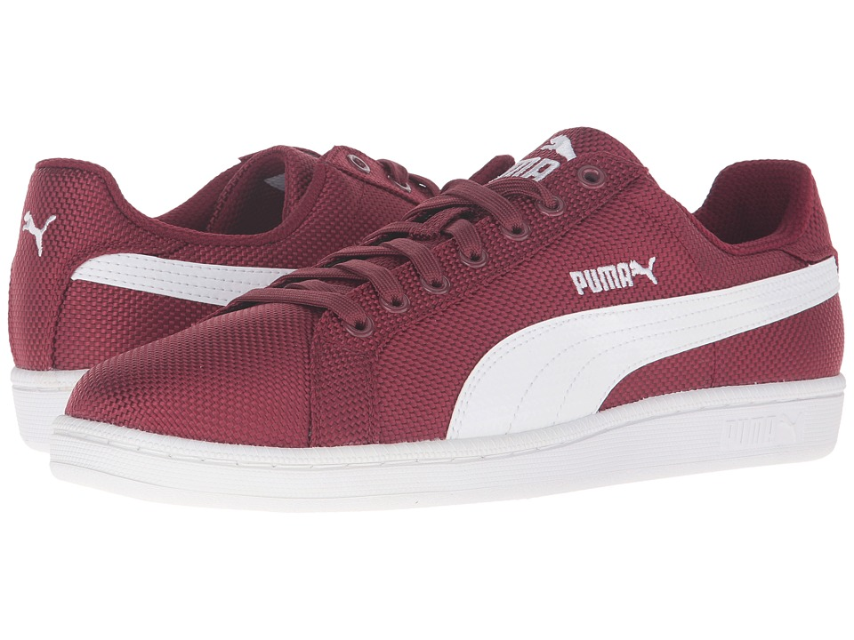 PUMA - Smash Ripstop (Cabernet/White) Men's Shoes