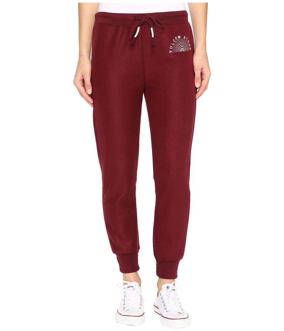 Volcom - Lived in Fleece Pants (Merlot) Women's Casual Pants